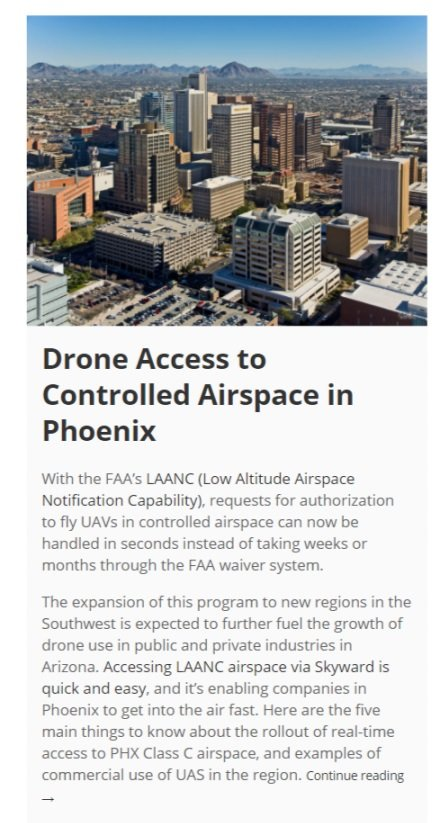 Skyward blog post - Phoenix airspace launch
