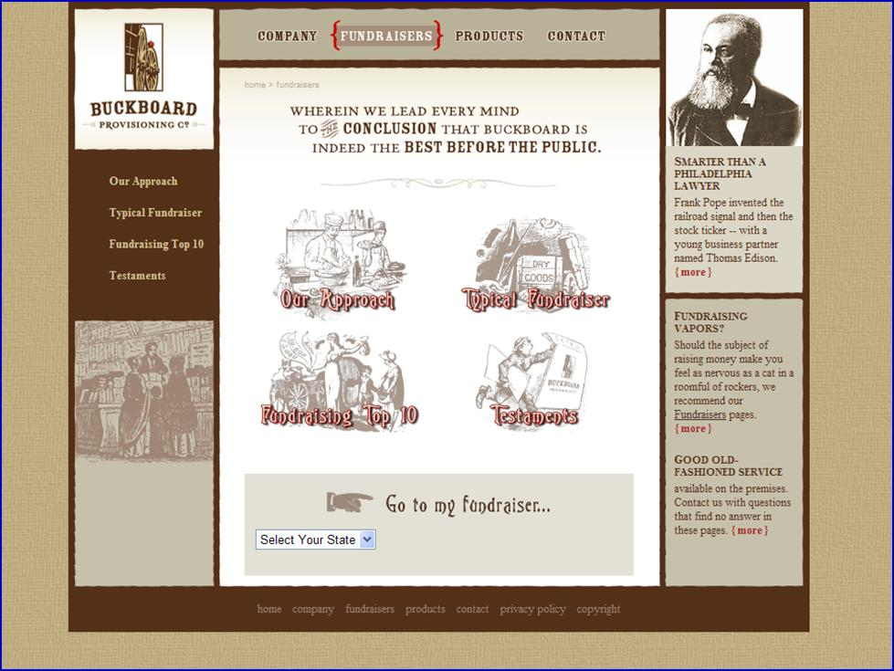 Buckboard web content website screenshot
