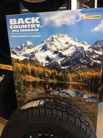 Back Country tire tagline by Moore Creative