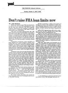 Copywriting including FHA loan limits op-ed - Merry Ann Moore