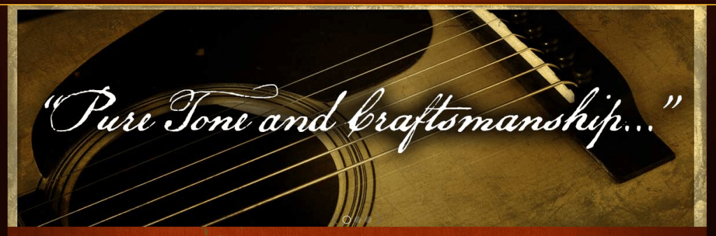 Preston Thompson Guitars tagline pt 1