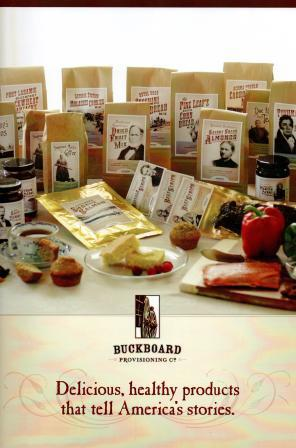 Buckboard brochure storytelling promoting Old West products