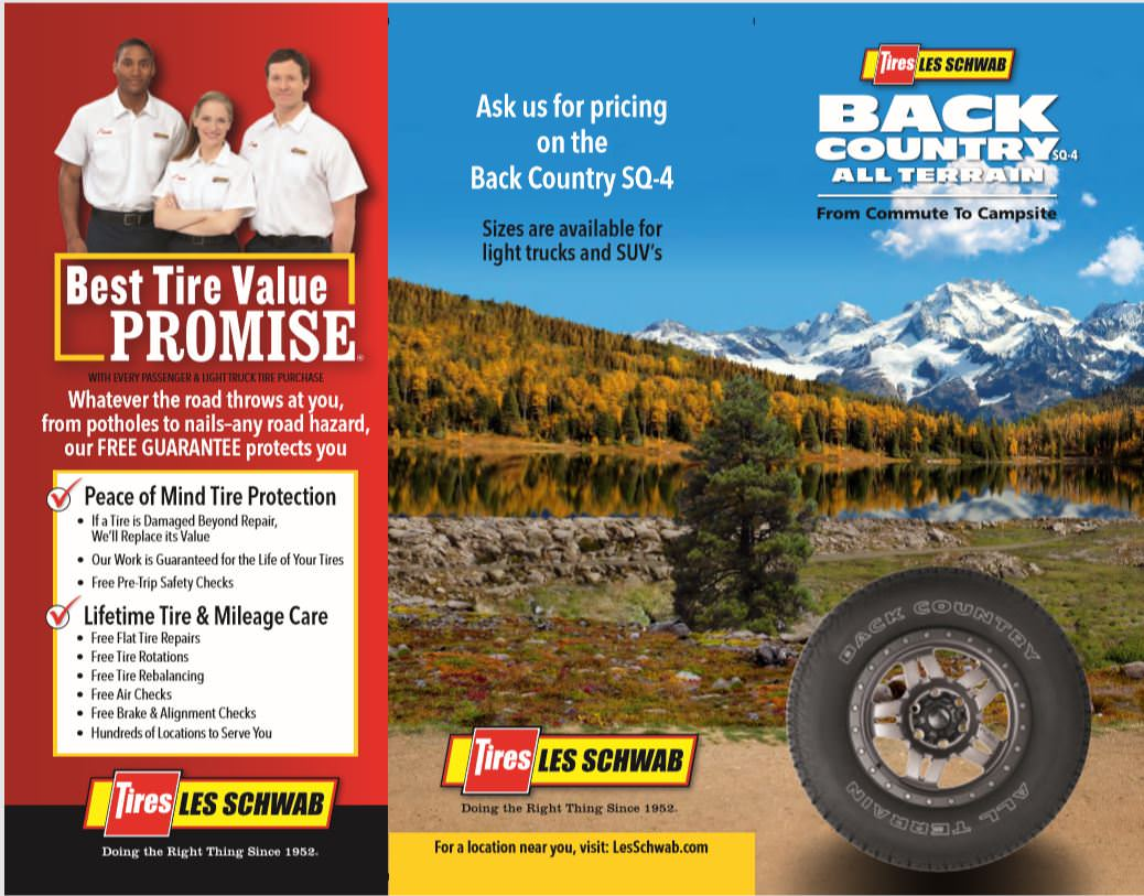 Les Schwab Tires Back Country AT brochure cover