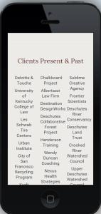Client list columns not mobile-responsive