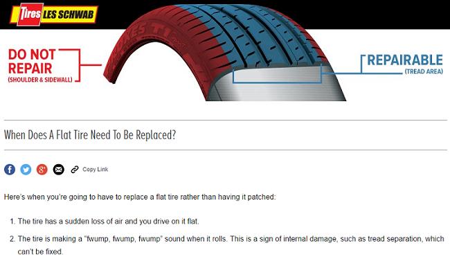 Content marketing article for Les Schwab Tires