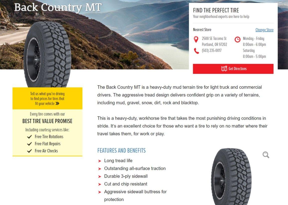 LS tires product description - MT