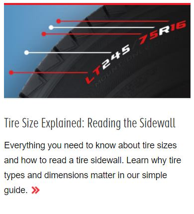 Les Schwab Tires blog post - tire size explainer