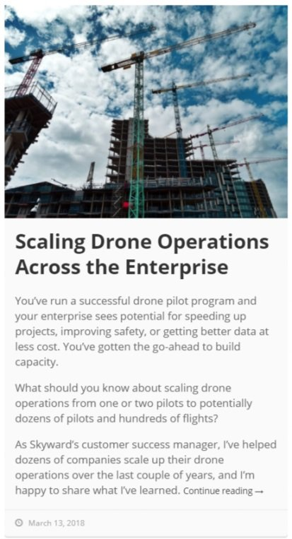 Scaling Drone Ops in Enterprises article - Skyward