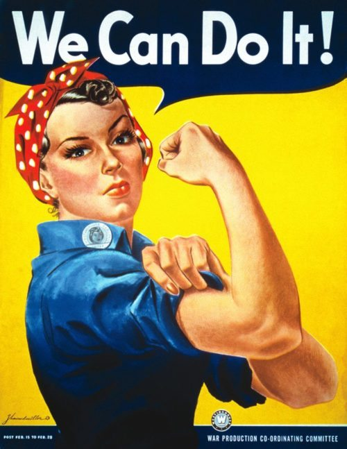 We can do it strong woman