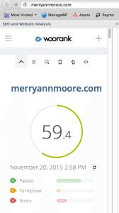WooRank existing website score