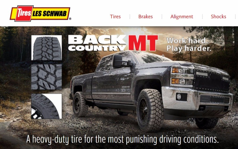Tagline and copy for new Les Schwab tire